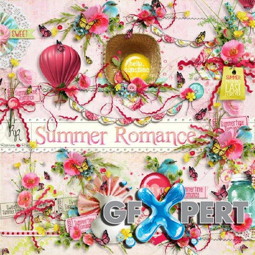 Digital scrapbooking set - Summer Romance