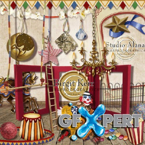 Scrapbooking kit - Carousel