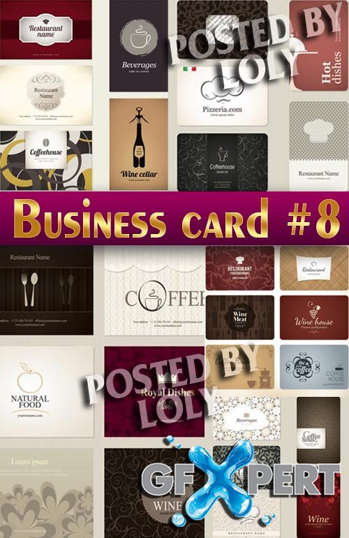 Business Cards #8 - Stock Vector