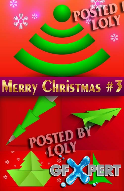 Merry Christmas Designs 2014 #3 - Stock Vector