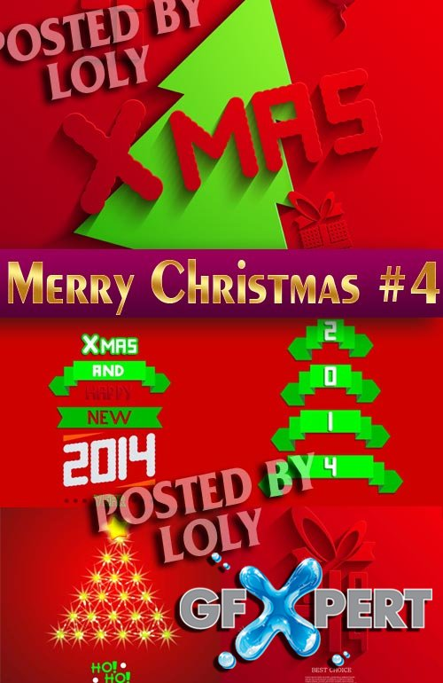 Merry Christmas Designs 2014 #4 - Stock Vector