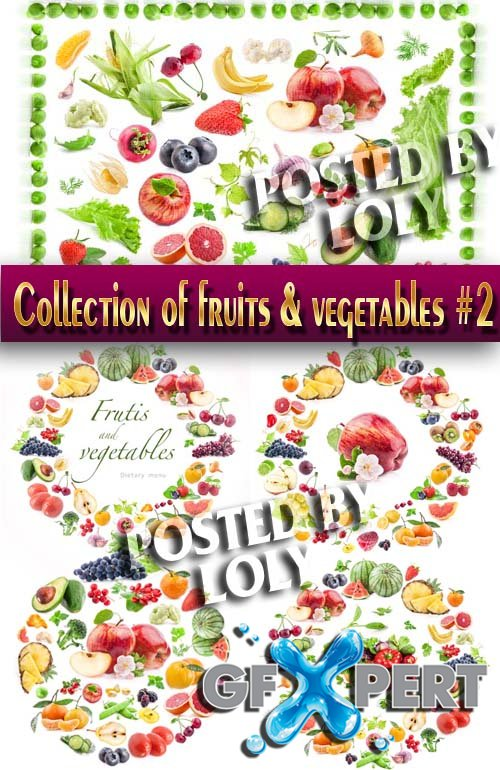 Food. Mega Collection. Fruits and Vegetables #2 - Stock Photo