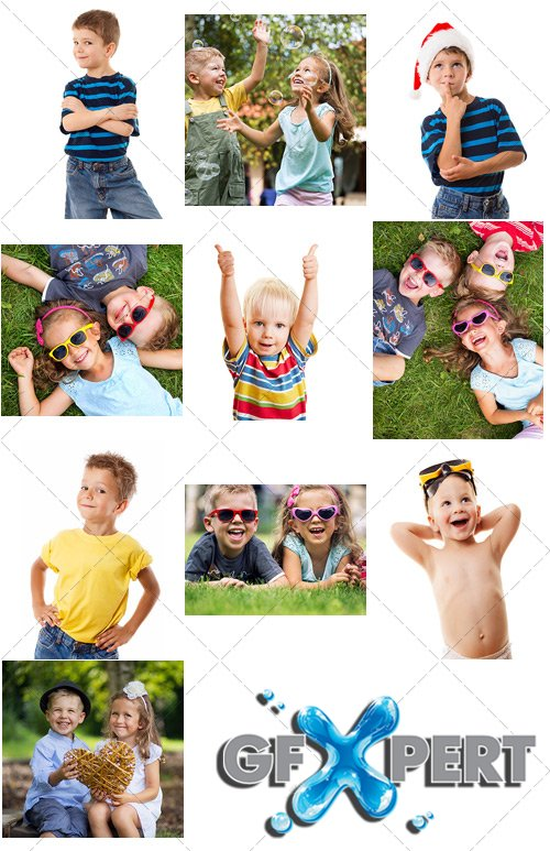 Children laugh and play together - PhotoStock