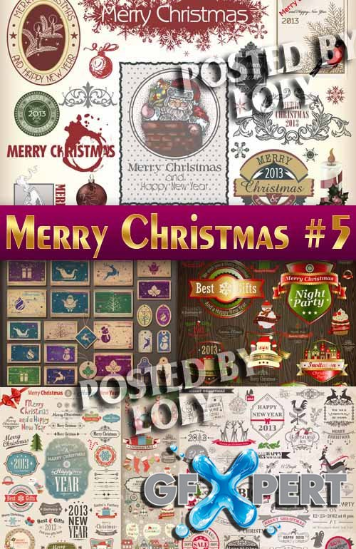 Merry Christmas Designs 2014 #5 - Stock Vector