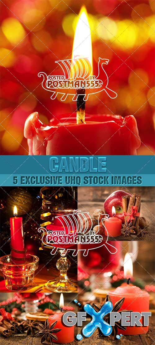 Still-life with candle, Celebratory - PhotoStock