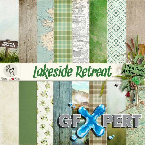 Digital scrap kit - Lakeside Retreat