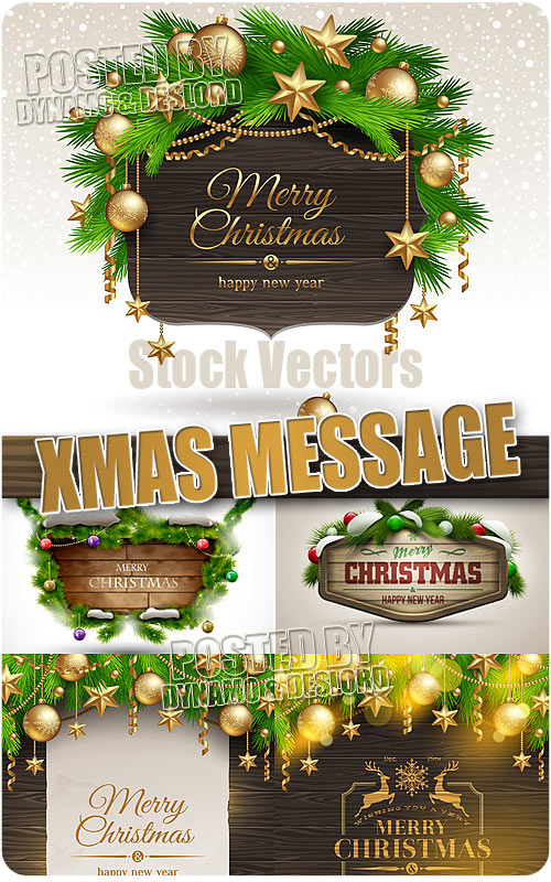 Christmas Message - Stock Vectors