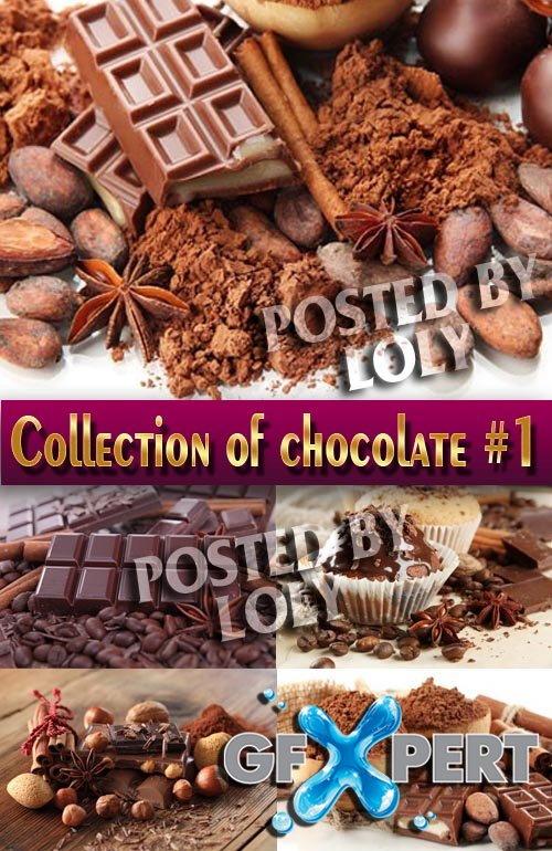 Food. Mega Collection. Chocolate #1 - Stock Photo