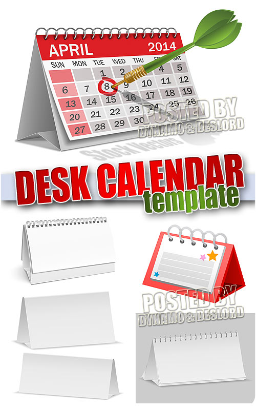 Desk calendar template - Stock Vectors