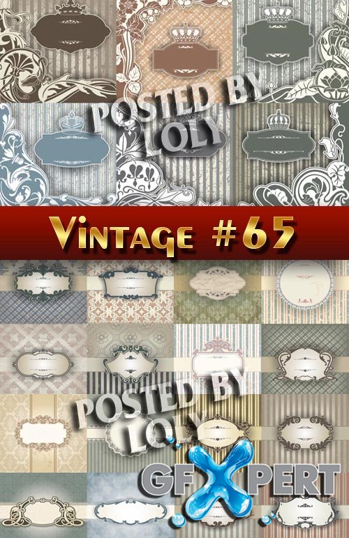 Vintage backgrounds #65 - Stock Vector