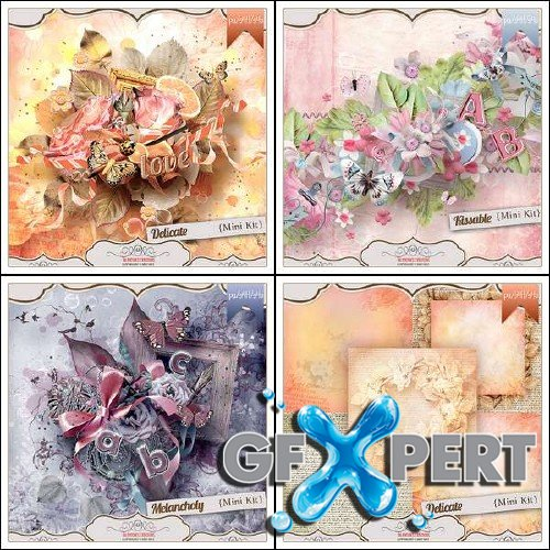 3 mini scrap kits by Valentina's Creations