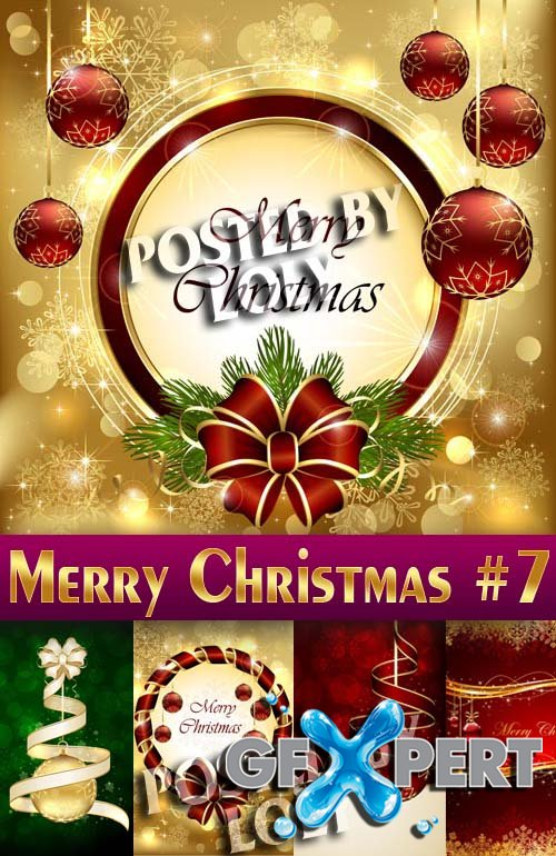 Merry Christmas Designs 2014 #7 - Stock Vector