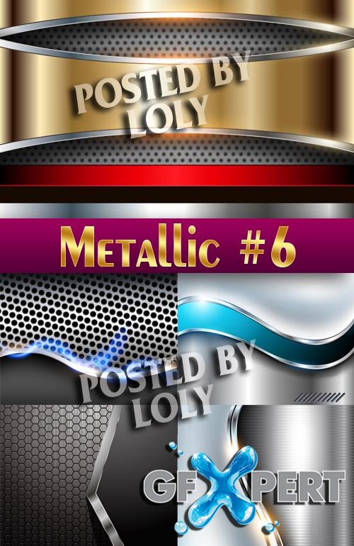 Metallic Backgrounds #6 - Stock Vector