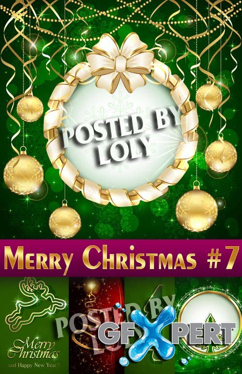 Merry Christmas Designs 2014 #8 - Stock Vector