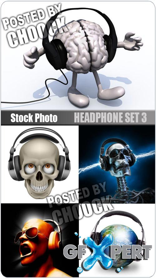 Headphone set 3 - Stock Photo