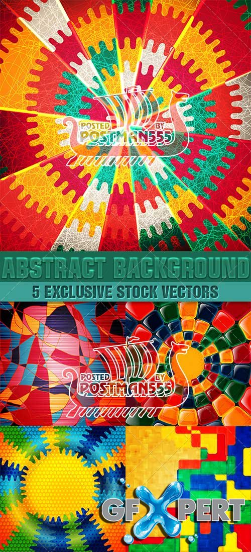 Colored in abstract style backgrounds - VectorImages