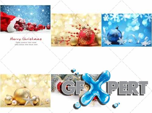 New year and Christmas, greeting backgrounds - PhotoStock
