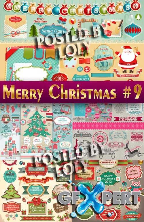 Merry Christmas Designs 2014 #9 - Stock Vector
