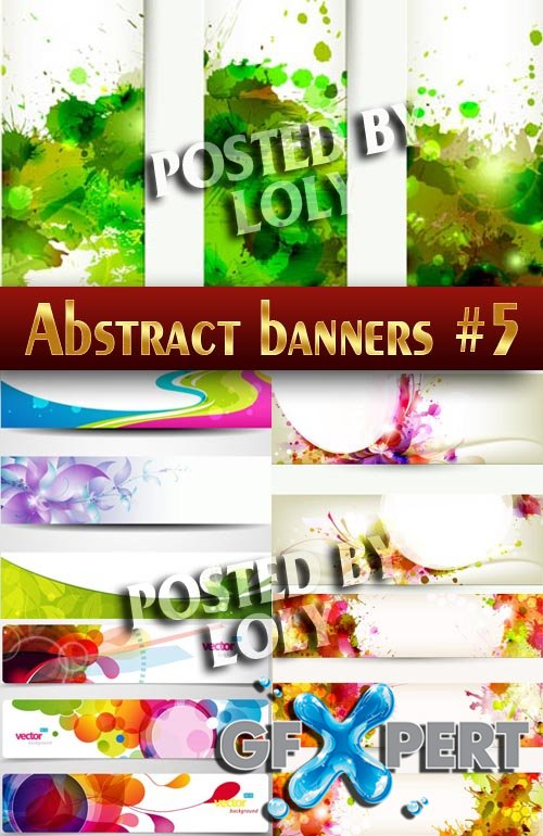 Abstract banners #5 - Stock Vector