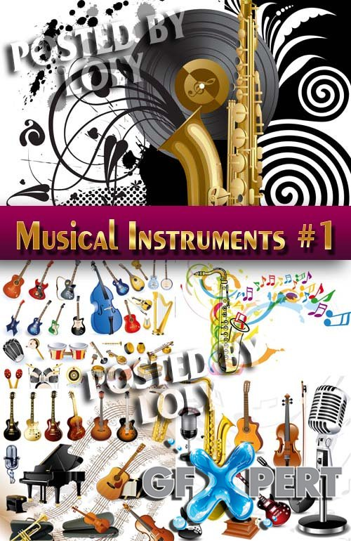 Musical Instruments #1 - Stock Vector