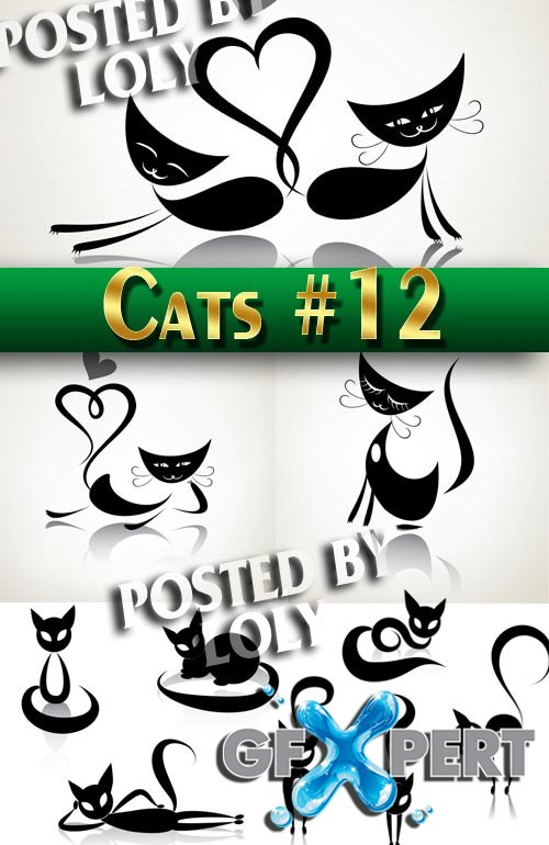 Wonderful kittens #12 - Stock Vector