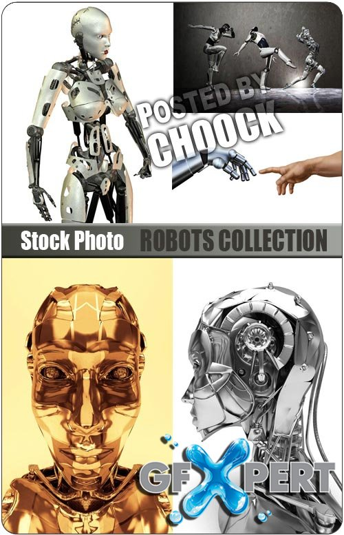 Robots collection - Stock Photo