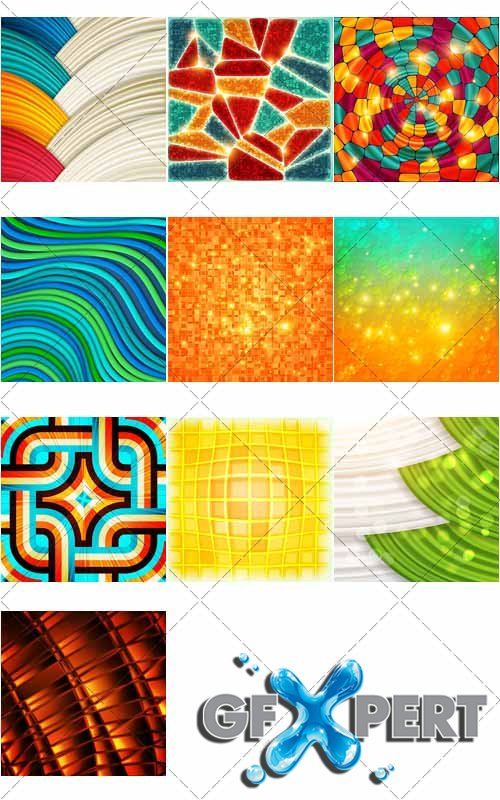 Colored in abstract style backgrounds, 3 - VectorImages