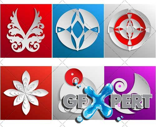 Decorative design elements and backgrounds for presentations - VectorImages