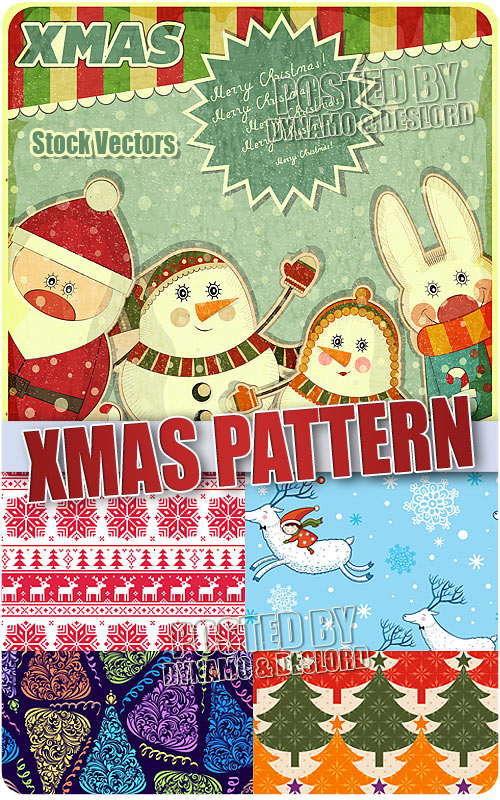 Christmas patterns - Stock Vectors