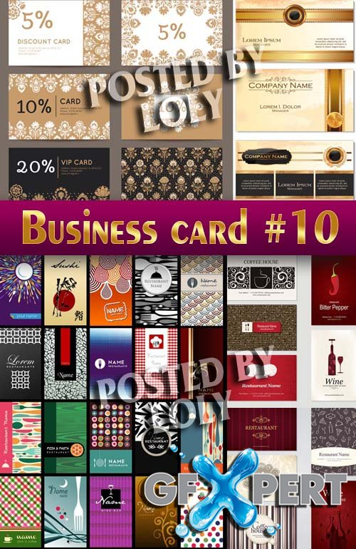 Business Cards #10 - Stock Vector