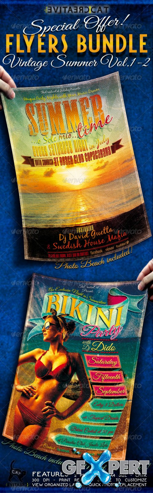 GraphicRiver - Vintage Summer Flyer/Poster Bundle Vol. 1-2
