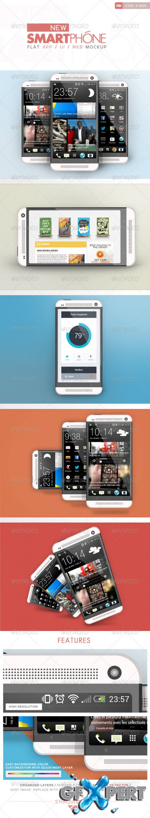 GraphicRiver - Flat Phone Mock Up