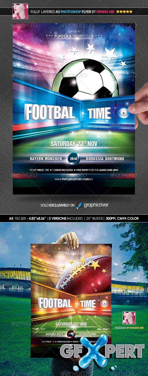 GraphicRiver - European & American Football Poster/Flyer