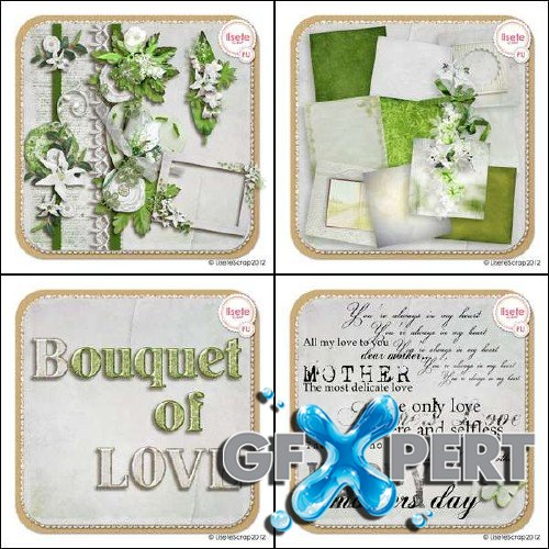Digital scrap kit - Bouquet of Love