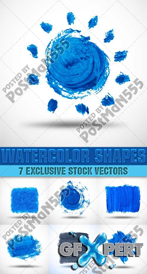 Watercolor Shapes, 2 - VectorImages