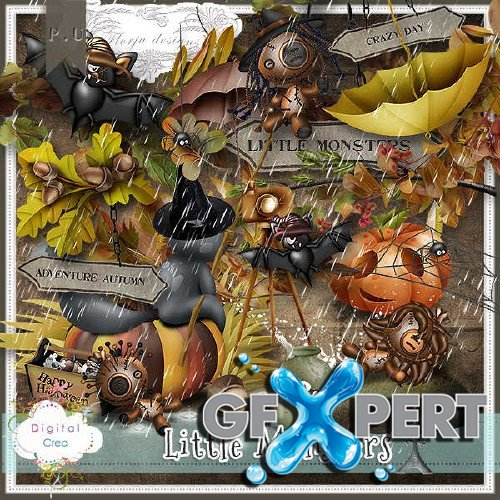 Digital scrapbooking kit - Little Monsters