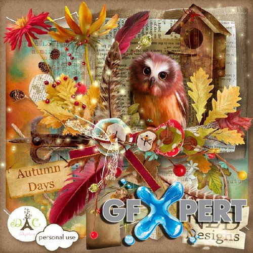 Scrap kit - Autumn Days are Here Again