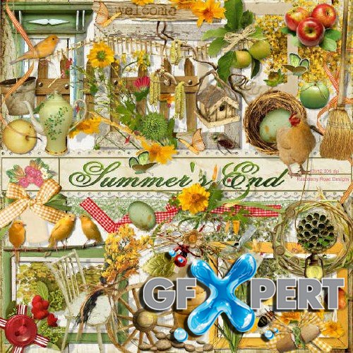 Digital scrap kit - Summer's End