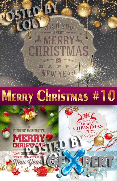 Merry Christmas Designs 2014 #10 - Stock Vector