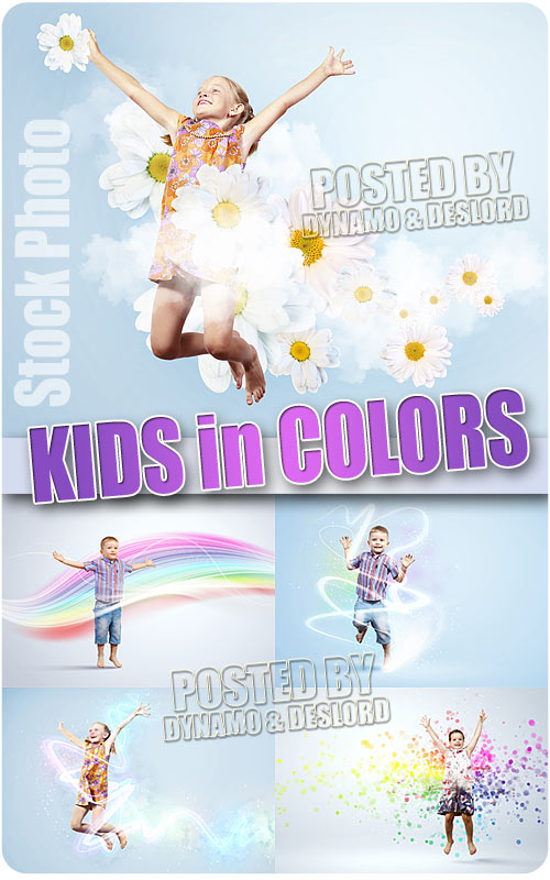 Kids in colors - UHQ Stock Photo