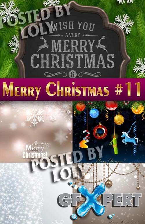 Merry Christmas Designs 2014 #11 - Stock Vector