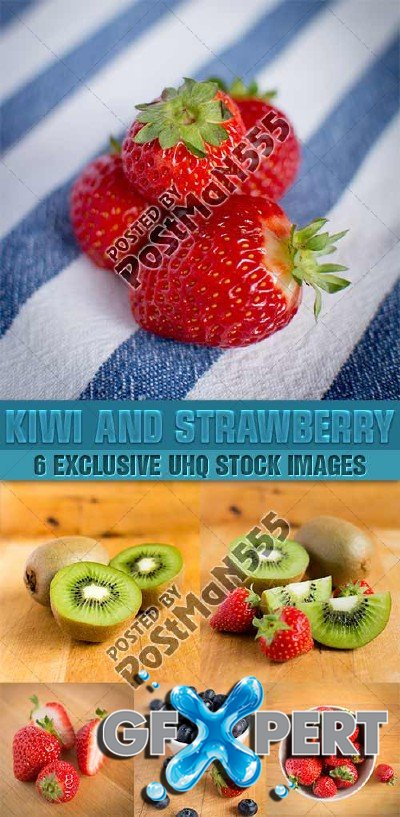 Fresh kiwi and strawberry - PhotoStock