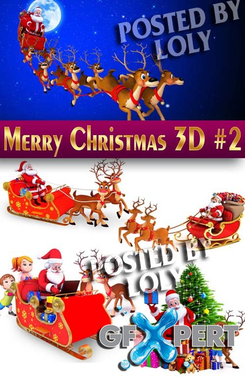 Merry Christmas Designs 2014. 3D #2 - Stock Photo