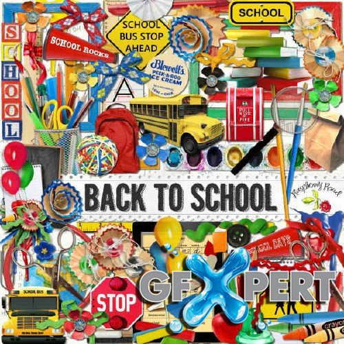 Free Scrap Kit Back To School Download