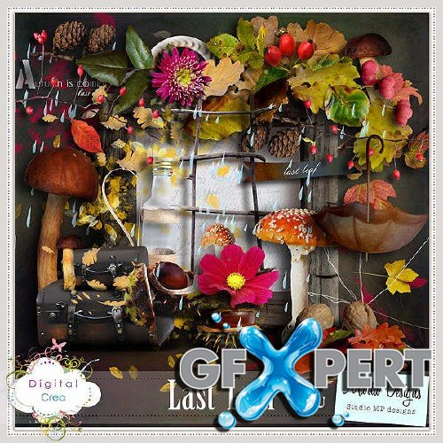 Digital scrapbooking set - Last Leaf