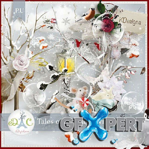 Scrapbooking kit - Tales of the magical winter