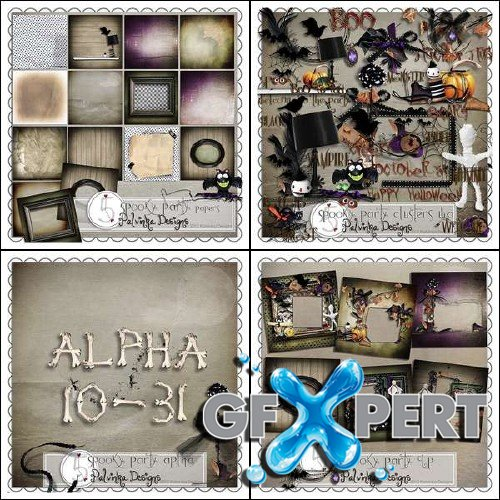 Scrapbooking set - Spooky Party