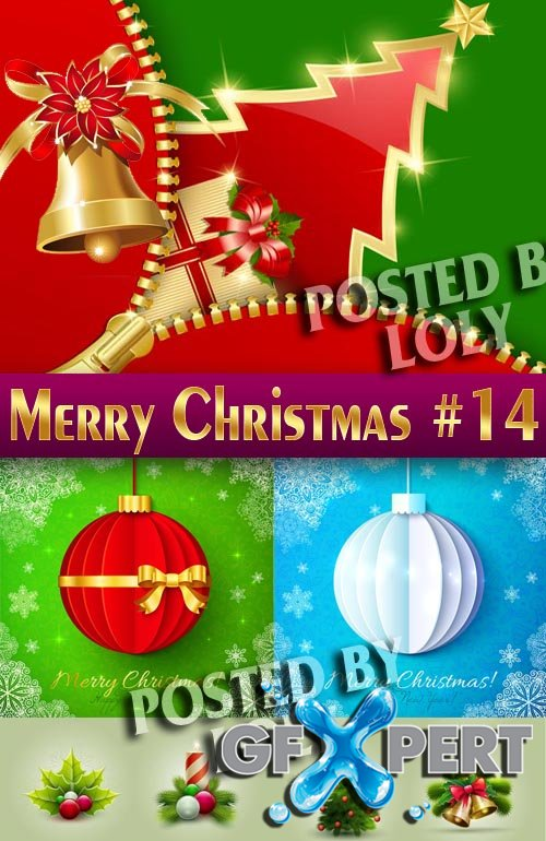 Merry Christmas Designs 2014 #14 - Stock Vector