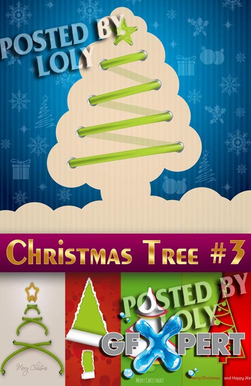 Christmas tree 2014 #3 - Stock Vector