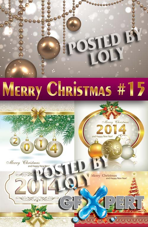 Merry Christmas Designs 2014 #15 - Stock Vector